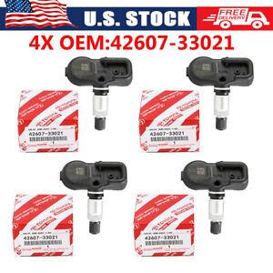 4X TIRE PRESSURE SENSOR TPMS Genuine 42607-33021 For Scion Toyota Lexus PMV-107J