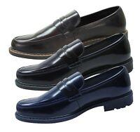 Mocassini uomo class ecopelle Oxford scarpe eleganti blu nero marrone