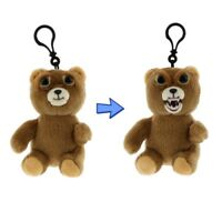 "Feisty Pets Minis: Sir-Growls-a-lot 5"" Plush Bear on Keychain Backpack Clip"