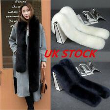 Ladies Faux Fur Scarf Collar Winter Warm Fluffy Furry Shawl Wrap Stole Soft Long