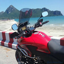 New 2013 14 15 Honda CB500X Motorcycle Touring Windshield Windscreen Light Smoke