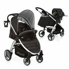 HAUCK  LIFT UP 4 SHOP N DRIVE TRAVEL SYSTEM 1 HAND FOLD PUSHCHAIR+CARSEAT BLACK