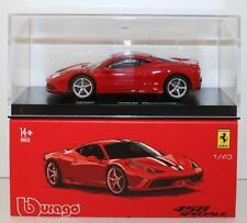 BURAGO SIGNATURE SERIES 1:43 AUTO DIE CAST FERRARI 458 SPECIALE     ART 18-36901