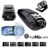 Car DVR Dual Lens HD 1080P Night Vision Front Rear View DVR Recorder Camera GPS