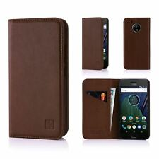 32nd Classic Series - Real Leather Book Wallet Case Cover for Motorola Moto G5 Moto.g5.32ndclassic-darkbrown Dark Brown