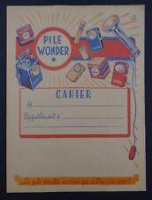 Protège cahier PILE WONDER BATRI AUDAX lampe de poche copybook cover Wachbuch
