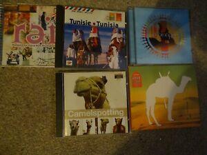 LOT 5X CD'S - ARABESQUE ZOUDGE /ARABIANPOP/TUNISIA/RAI / CAMELSPOTTING