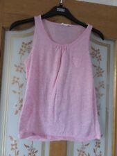 Girls Marks & Spencers Angel range pink fleck vest top in size small