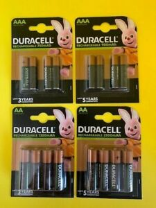 DURACELL RECHARGEABLE BATTERIES AA, AAA, C & D  NiMH PRE-CHARGED STAYCHARG ULTRA