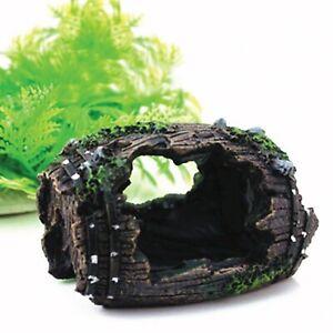 Resin Artificial Barrel Cave Landscaping Home Aquarium Fish Tank Decorations