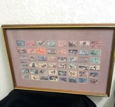 Framed United States Federal Migratory Duck Stamp Collection Print 1934-1975 Art