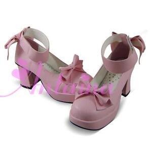 pink lolita Shoes Schuhe Stöckel party babydoll cosplay maid Card Captor Sakura
