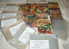 PACK OF 100 x SILVER AGE SIZE COMIC BAGS. 1960'S COMICS. MARVEL, D.C. ETC