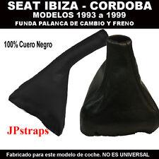 SEAT CORDOBA   MODELOS 1993-1999 FUNDA PALANCA DE CAMBIO Y FRENO 100% PIEL
