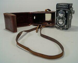 Vintage Rolleiflex Automat MX Model K4A TLR Twin Lens Reflex Camera 1950s w/Case
