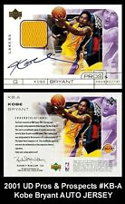 Lot of 25 2001 UD Pros & Propects #KB-A Kobe Bryant AUTO JERSEY REPRINT