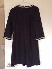 H&M black mini dress with pearl details