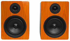 "Rockville APM5C 5.25"" 2-Way 250W Active/Powered USB Studio Monitor Speakers Pair"