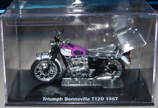 IXO DIECAST TRIUMPH BONNEVILLE T120 MOTORCYCLE NEW & BOXED 1:24 G SCALE