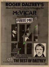 Roger Daltrey The Who UK McVicar LP advert 1980 MM-TRYU