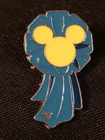 Disney Parks Mickey Mouse Blue Ribbon Hidden Mickey Pin Trading Collectible