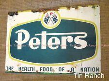 Aussie PETERS ICE CREAM TIN SIGN flag Rustic new vintage Australian retro deli