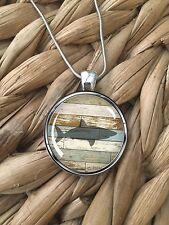Shark Beach Ocean Life Nautical Sea Island Pendant Silver Chain Necklace NEW