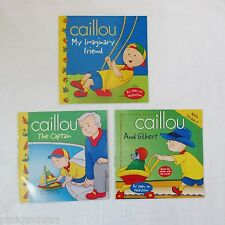 New Caillou Book Set THE CAPTAIN My Imaginary Friend AND GILBERT Lot of 3