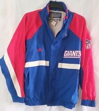 NOS Vtg. 90's NY Giants NFL Apex One Full Zip Lined Nylon Windbreaker  - Size L