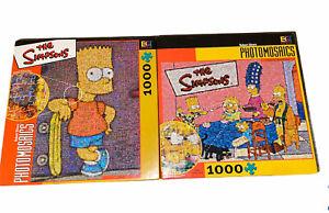 Lot Of 2 Simpsons Family 1000 Piece Puzzle PHOTOMOSAICS Buffalo Games NIB