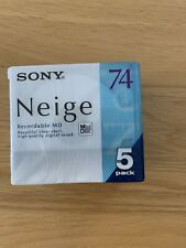 Sony Neige series Minidisk 74 min 5 pack Recordable MD