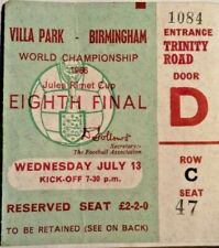 More details for spain v argentina world cup eighth final wednesday 13/7/66 ticket villa park.