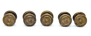 Five georgian Sheraton door drawer knobs (FH230)