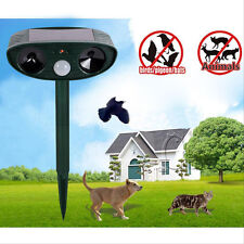 Solar Power Ultrasonic Signals Animal Repeller Outdoor Bird Mouse Expeller