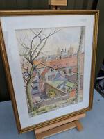 Marie dubois framed signed watercolour painting TC180119U