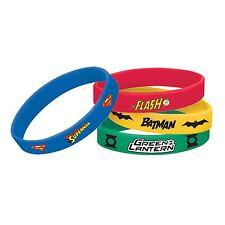Justice LEAGUE caoutchouc bracelets partie faveur batman superman flash green lantern