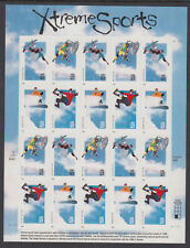 US #3321 - 3324 Extreme Sports 33 Cents Complete Sheet of 20 Mint Never Hinged