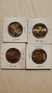 2021 Discovery of Insulin Colored / Non - Coloured Toonies - Lot of 2
