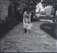Francia Vida Familia Foto Placa De Cristal Negativas Vintage VR11d19