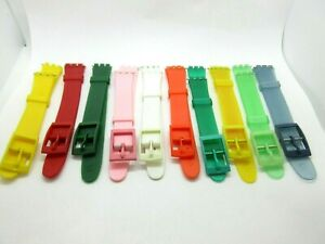 Replacement Resin 12mm Watch Strap For Swatch Watches Including Fitting Pins