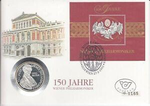 Numisbrief  Österreich  100 Schilling  Silber  Wiener Philharmoniker  1992