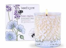 Large Bee Calm Lavender and Geranium Scented  Candle - Rest & Mindfulness