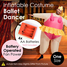 Inflatable Costume Ballet Dancer Battery Operated Fan Power Jumpsuit One Size