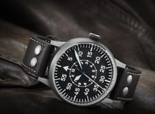 New LACO PADERBORN Pilot watch Type B Automatic Aged Dark Steel 861749 Original