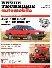 Revue Technique Automobile - Audi 80 - Diesel et Turbo D - Depuis 1989 - N° 522