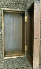 Heavy Wooden Storage Box Trunk with Metal Side Handles - Well Aged - Stunning