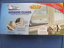 Twin Draft Guard Window Guard Double sided draft blocker For 2 windows   NEW