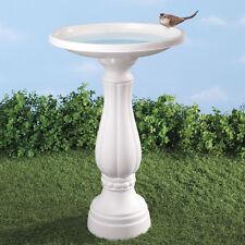 Elegant Traditional White Durable Garden Yard Bird Bath
