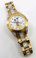 Disney Elgin Mickey Mouse Pointing Hands MCK208 Rhinestones Womens  Wrist Watch
