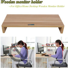 15mm Large Wooden Monitor Mount TV Display Riser Computer Stand Sale